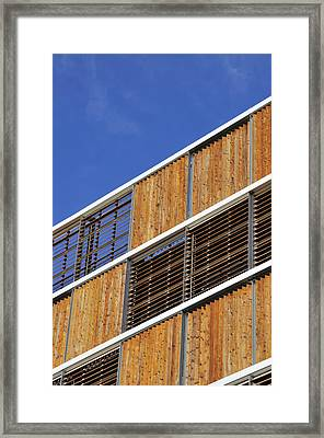 Architectural Louvres Framed Print by Andy Smy