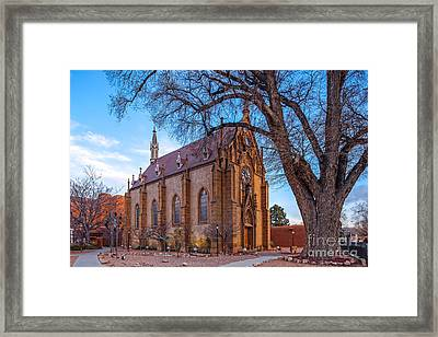 Architectural Photograph Of The Loretto Chapel In Santa Fe New Mexico Framed Print by Silvio Ligutti