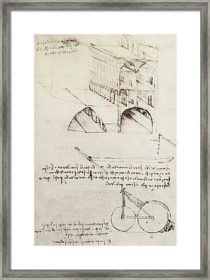 Architectural Study Framed Print by Leonardo Da Vinci