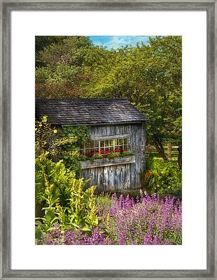 Architecture - A Summers Dream  Framed Print by Mike Savad