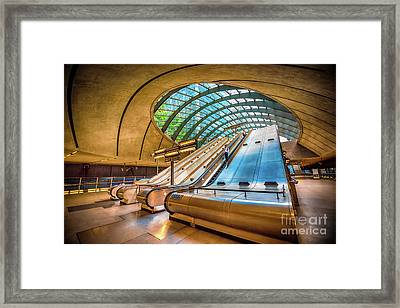 Architecture Of Canary Wharf Framed Print by Svetlana Sewell