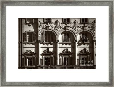 Architecture Of Lucca Framed Print by Prints of Italy