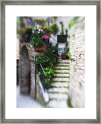 Archway And Stairs Framed Print by Marilyn Hunt