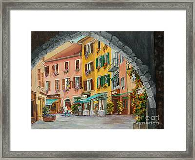Archway To Annecy's Side Streets Framed Print by Charlotte Blanchard