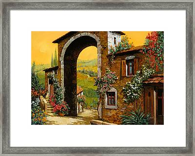 Arco Di Paese Framed Print by Guido Borelli