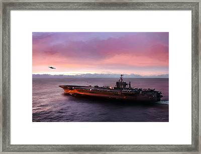 Arctic Cruise Sunset Framed Print by Peter Chilelli