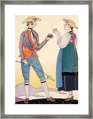 Are They Nice Framed Print by Georges Barbier