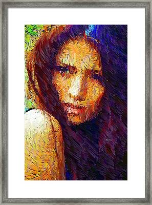 Are You Sure Framed Print by Rafael Salazar