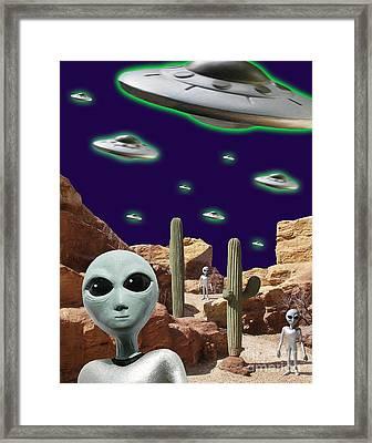 Area 51 Framed Print by Keith Dillon