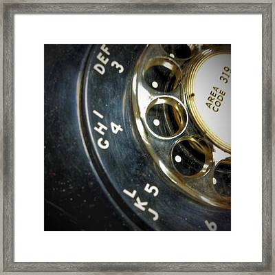 Area Code Framed Print by Jame Hayes