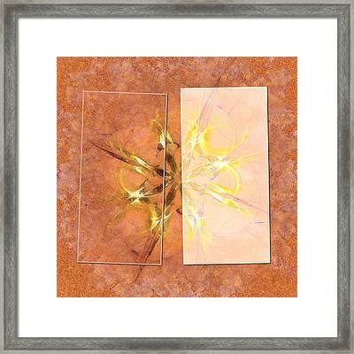 Arefact Proportion Flowers  Id 16164-042805-87871 Framed Print by S Lurk