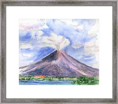 Arenal Volcano Costa Rica Framed Print by Arline Wagner