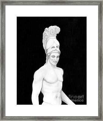 Ares God Of War Framed Print by Gabriela Junosova