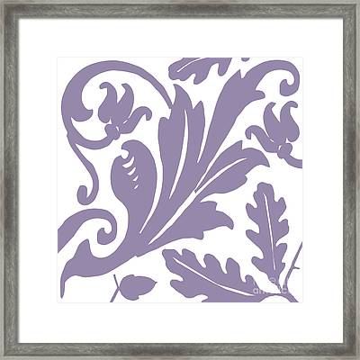 Arielle Grape Framed Print by Mindy Sommers