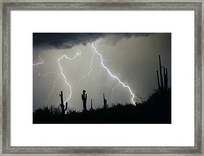 Arizona Desert Storm Framed Print by James BO  Insogna