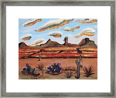 Arizona Desert Framed Print by Suzanne  Marie Leclair