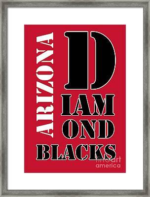 Arizona Diamondbacks Baseball Typography Red Framed Print by Pablo Franchi