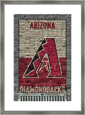 Arizona Diamondbacks Brick Wall Framed Print by Joe Hamilton