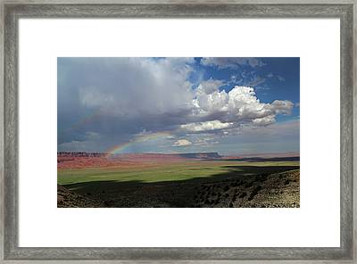 Arizona Double Rainbow Framed Print by Jerry LoFaro