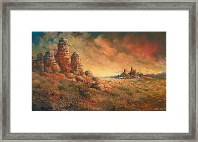 Arizona Sunset Framed Print by Andrew King