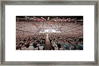 Arizona Wildcats White Out At Mckale Center Framed Print by Replay Photos