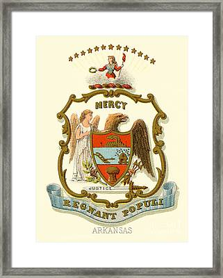 Arkansas State Coat Of Arms  Framed Print by Celestial Images