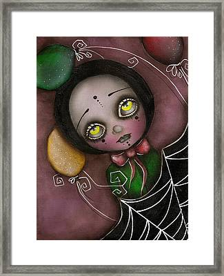 Arlequin Clown Girl Framed Print by  Abril Andrade Griffith