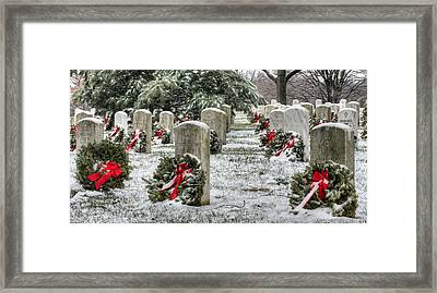 Arlington Christmas Framed Print by JC Findley