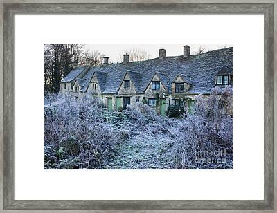 Arlington Row In Winter Framed Print by Tim Gainey