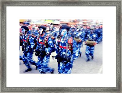 Armed Forces Of Colombia 7 Framed Print by Daniel Gomez