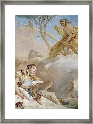Armida Abducting The Sleeping Rinaldo Framed Print by Giovanni Battista Tiepolo