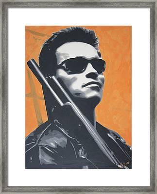 Arnold Schwarzenegger 2013 Framed Print by Luis Ludzska