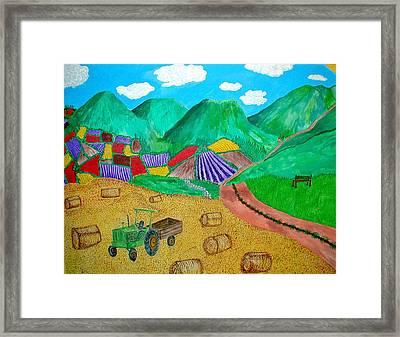 Aromatic Harvest Framed Print by Sandy Wager