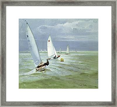 Around The Buoy Framed Print by Timothy Easton