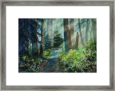 Around The Path Framed Print by Kerri Ligatich