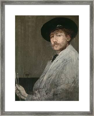 Arrangement In Grey  Portrait Of The Painter Framed Print by James Abbott McNeill Whistler