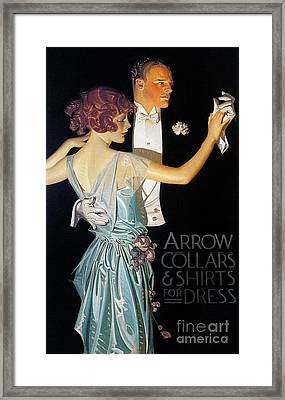 Arrow Shirt Collar Ad, 1923 Framed Print by Granger