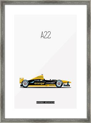 Arrows Asiatech A22 F1 Poster Framed Print by Beautify My Walls