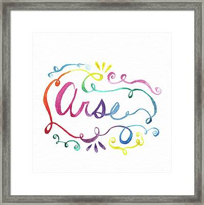 Arse Framed Print by Alicia VanNoy Call