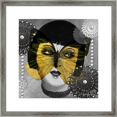 Art Deco Butterfly Woman Framed Print by Mindy Sommers