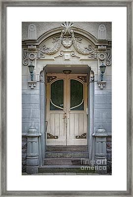 Art Deco Door Framed Print by Antony McAulay