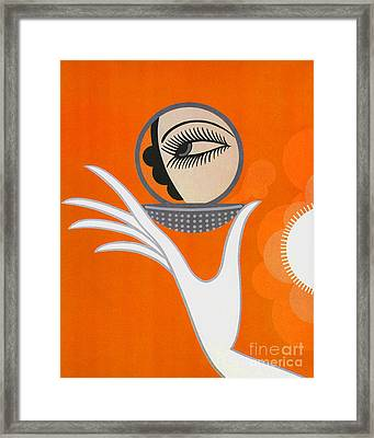 Art Deco Fashion Illustration Framed Print by Tina Lavoie
