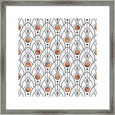 Art Deco Leaves 1 Framed Print by Elisabeth Fredriksson