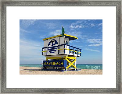 Art Deco Lifeguard Stand Framed Print by David Lee Thompson