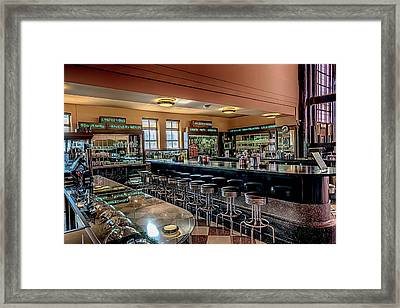 Art Deco Soda Fountain Framed Print by Susan Rissi Tregoning