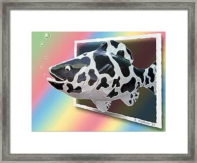 Art Fish Fun Framed Print by Brian Wallace