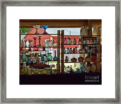 Art Glass Framed Print by Edward Sobuta