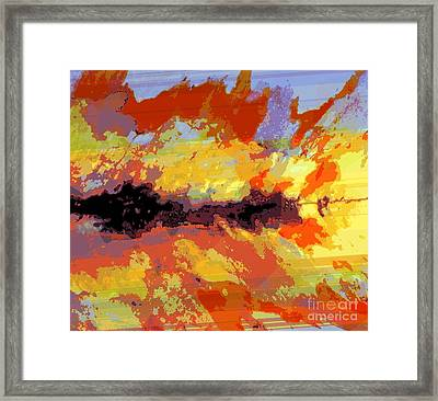 Art Heals Inside Wounds Framed Print by Fania Simon