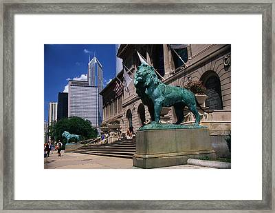 Art Institute Of Chicago Chicago Il Usa Framed Print by Panoramic Images