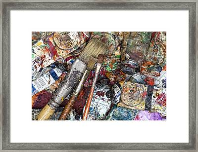 Art Is Messy 5 Framed Print by Carol Leigh